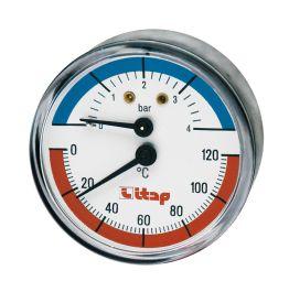"""Термоманометр осевое подключение 1/2"""" Itap 1/2"""""""