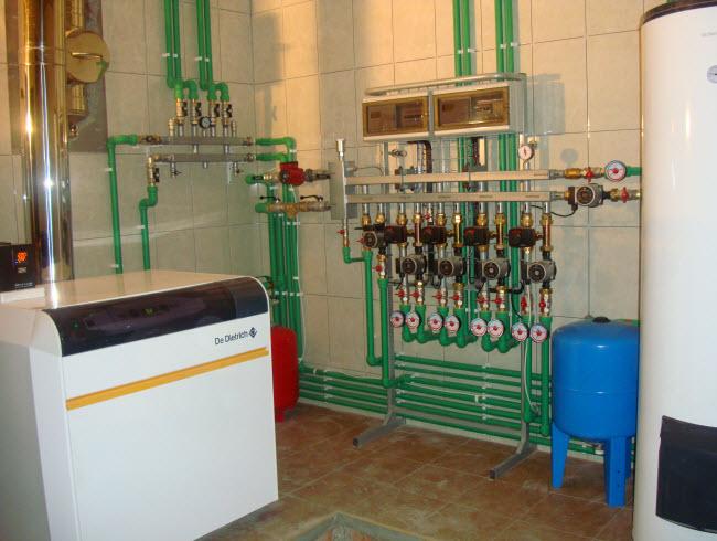 Цена на монтаж систем отопления частного дома