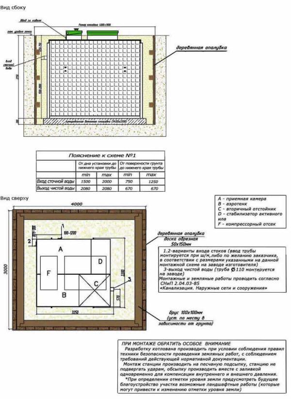 Схема монтажа ТОПАС 50. топас